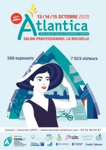 Affiche officiel du salon Atlantica 2020